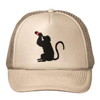 Boissons alcoolisées de singe casquette de camionneur