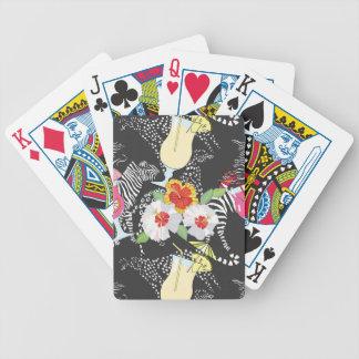 Boissons tropicales avec des animaux cartes à jouer