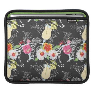 Boissons tropicales avec des animaux housses iPad