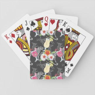 Boissons tropicales avec des animaux jeu de cartes