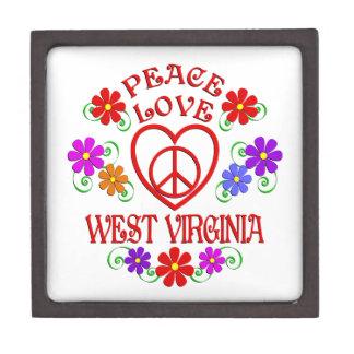 Boîte À Babioles De Première Qualité Amour la Virginie Occidentale de paix
