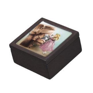 Boîte À Babioles De Première Qualité Boîte-cadeau illustrée colorée - fille de piano