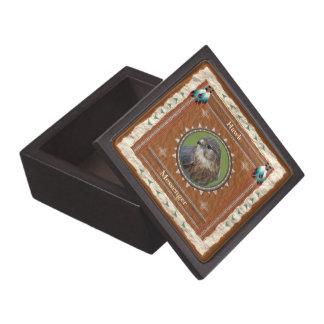 Boîte À Babioles De Première Qualité Faucon - boîte-cadeau en bois de messager