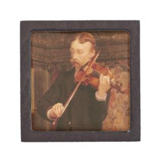 Boîte À Babioles De Première Qualité Fils d'Alma-Tadema | Maurice jouant le violon
