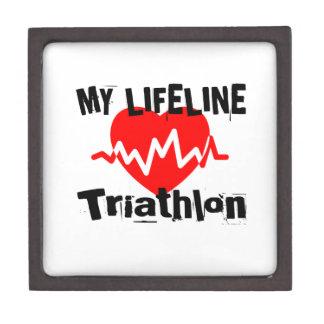 Boîte À Babioles De Première Qualité Ma ligne de vie triathlon folâtre des conceptions
