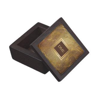 Boîte À Babioles De Première Qualité Monogramme de marbre d'or