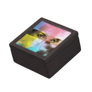 Boîte À Babioles De Première Qualité Rétro art de bruit abstrait, boîte-cadeau colorée