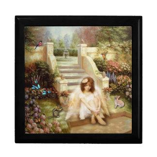 Boîte à bijoux angélique de cadeau de jardin de