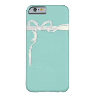 Boîte à bijoux bleue des oeufs de Robin avec le Coque iPhone 6 Barely There