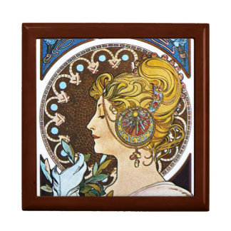 Boîte à bijoux de cadeau de Nouveau d'art de plume