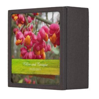 Boîte À Bijoux De Première Qualité Boîte personnalisée par fleur rose d'anneau de