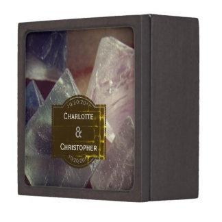 Boîte À Bijoux De Première Qualité Boîte personnalisée par pierre gemme d'anneau de