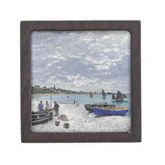 Boîte À Bijoux De Première Qualité Claude Monet | la plage chez Sainte-Adresse