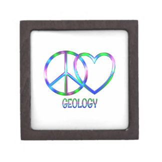 Boîte À Bijoux De Première Qualité Géologie brillante d'amour de paix
