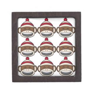 Boîte À Bijoux De Première Qualité Grande boîte de souvenir d'Emoji de singe de