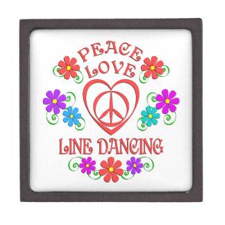 Boîte À Bijoux De Première Qualité Ligne d'amour de paix danse