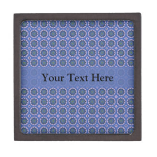 Boîte À Bijoux De Première Qualité Motif floral assez bleu