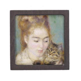 Boîte À Bijoux De Première Qualité Pierre une femme de Renoir | avec un chat