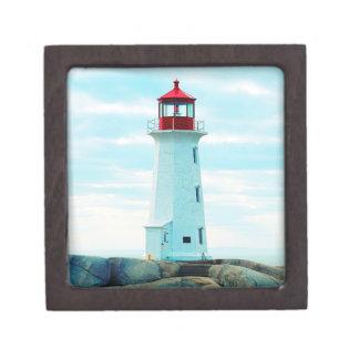 Boîte À Bijoux De Première Qualité Vieux phare, océan bleu, maritime, nautique
