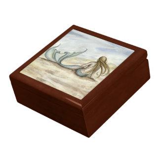Boîte à bijoux de sirène de bord de la mer de