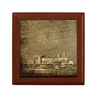 Boîte à bijoux de Steampunk avec la locomotive à