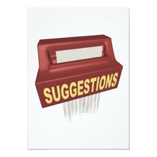 Boîte à idées carton d'invitation