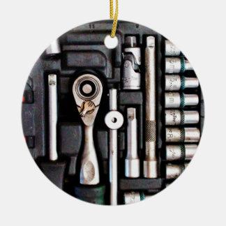 Boîte à outils de travail - copie industrielle ornement rond en céramique