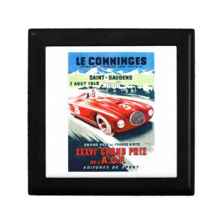Boîte À Souvenirs 1949 Français Grand prix emballant l'affiche