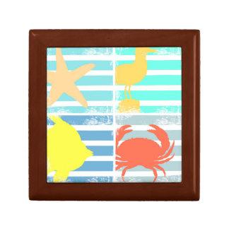 Boîte À Souvenirs 4 carrés de conception d'océan
