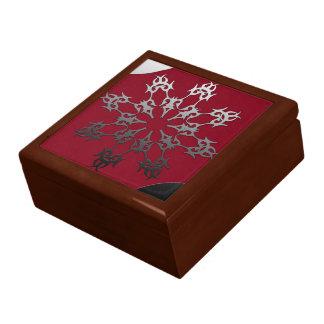Boîte À Souvenirs Abrégé sur ethnique brique noire rouge argentée