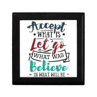 Boîte À Souvenirs Acceptez laissez vont croient