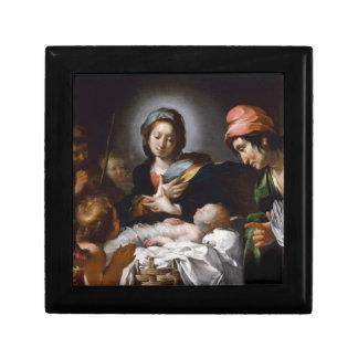 Boîte À Souvenirs Adoration des bergers du 17ème siècle
