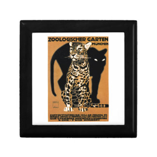 Boîte À Souvenirs Affiche 1912 de zoo de Munich de léopard de Ludwig