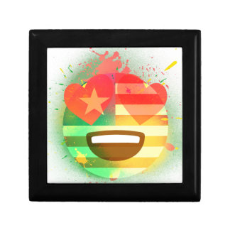 Boîte À Souvenirs Aimez l'art de peinture de jet d'Emoji de drapeau