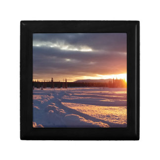 Boîte À Souvenirs Alaskan de coucher du soleil de Petersville