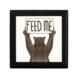 Boîte À Souvenirs Alimentez-moi et dites-moi que je suis joli ours