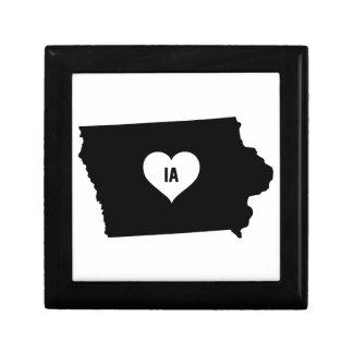 Boîte À Souvenirs Amour de l'Iowa