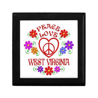 Boîte À Souvenirs Amour la Virginie Occidentale de paix