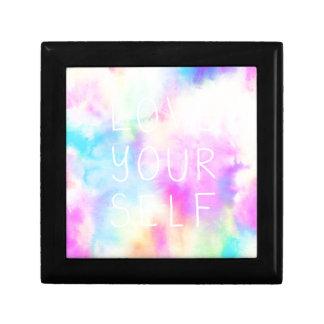 Boîte À Souvenirs Amour vous-même en arc-en-ciel en pastel