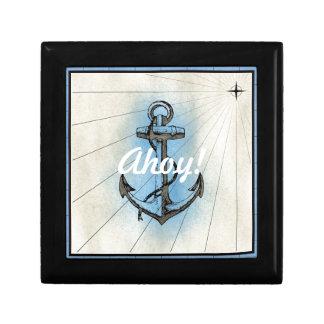 Boîte À Souvenirs Ancre nautique vintage