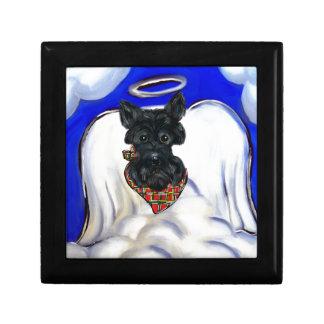 Boîte À Souvenirs Ange noir de Terrier d'écossais