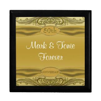 Boîte À Souvenirs Anniversaire de mariage d'or de rouleaux