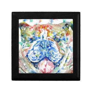 Boîte À Souvenirs aquarelle bulldog.8