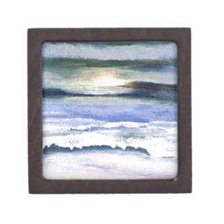 Boîte À Souvenirs Art crépusculaire de décor de surf de plage de