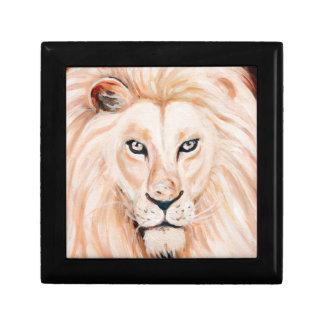 Boîte À Souvenirs Art fort d'huile de portrait de lion