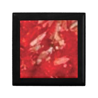 Boîte À Souvenirs art rouge de gelée