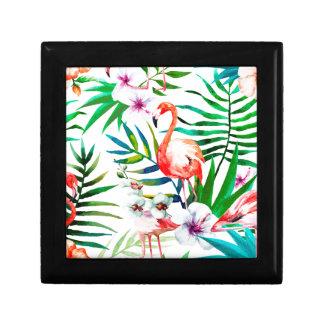 Boîte À Souvenirs Art tropical de flamant