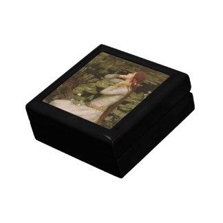 Boîte À Souvenirs Art victorien, Ophélie par l'étang par le château