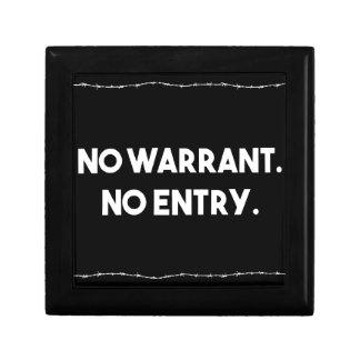 Boîte À Souvenirs Aucune garantie. Aucune entrée. Police de barbelé