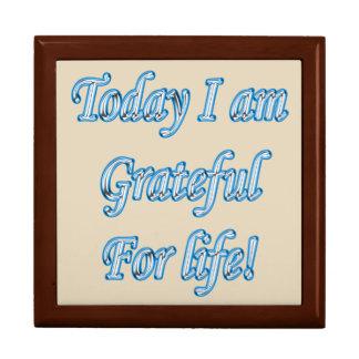 Boîte À Souvenirs Aujourd'hui je suis reconnaissant pendant la vie